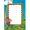 Д 7, Зеркало детское с аэрографией (ширина 500, высота 700)